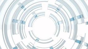 a tecnologia 4k de giro escava um túnel a entrada, canal leve do círculo, soundwave acústico ilustração royalty free