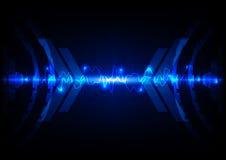 Tecnologia leggera blu astratta c Fotografia Stock