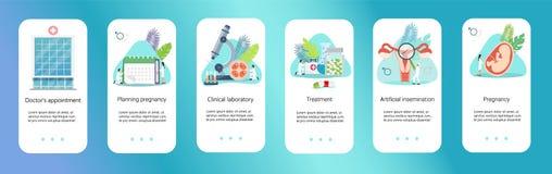 Tecnologia médica da ciência genética dos cuidados médicos ilustração stock