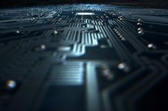Tecnologia macro da placa de circuito Foto de Stock