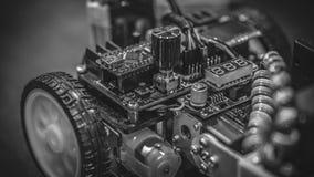 Tecnologia meccanica industriale dell'automobile del robot fotografia stock