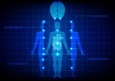 Tecnologia medica astratta del corpo Disegno dell'illustrazione Fotografia Stock