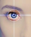 Tecnologia, medicina e visão do olho imagem de stock