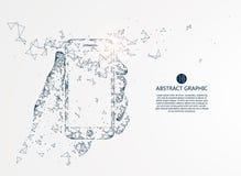 Tecnologia mobile di Internet illustrazione di stock