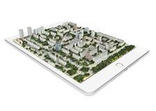 Tecnologia mobile di navigazione 3d Fotografie Stock Libere da Diritti