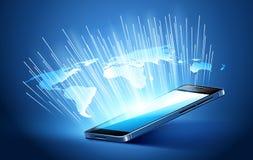 Tecnologia mobile moderna Fotografia Stock Libera da Diritti