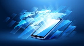 Tecnologia mobile moderna Immagini Stock