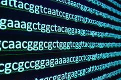 Tecnologia moderna: Arranjar em sequência do ADN imagem de stock