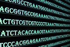 Tecnologia moderna: Arranjar em sequência do ADN fotografia de stock
