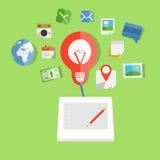 Tecnologia moderna da arte de Web Fotografia de Stock