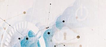 Tecnologia moderna da nuvem Conceito digital integrado da Web ilustração stock