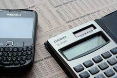 Tecnologia na finança Fotografia de Stock