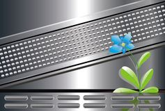 Tecnologia; natura; fower; bellezza; futuro Immagini Stock