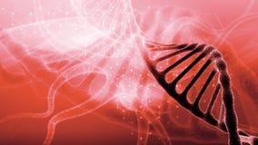 Tecnologia nova Close up das redes neurais A estrutura do close up do ADN Fundo abstrato em um assunto científico 3d rendem ilustração do vetor