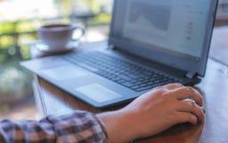 Tecnologia online di affari di commercio elettronico fotografia stock libera da diritti
