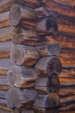 A tecnologia que constrói uma casa fora da madeira Foto de Stock Royalty Free
