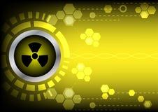 Tecnologia radioattiva di Abstrack sul fondo giallo di colore Fotografia Stock Libera da Diritti