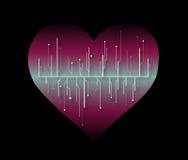 Tecnologia rosa del cuore Fotografia Stock Libera da Diritti