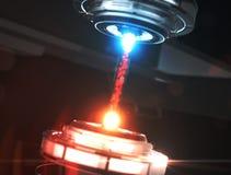 Tecnologia scientifica del laser di futuro dalle particelle illustrazione 3D Immagine Stock