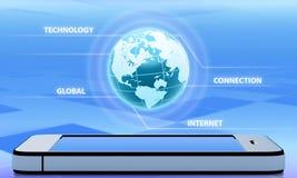Tecnologia sem fios da abstração Imagem de Stock