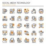 Tecnologia social dos meios ilustração royalty free