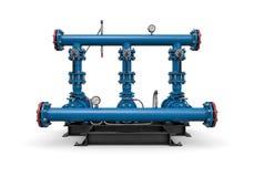 Tecnologia: stazione di servizio dell'illustrazione di acqua fotografia stock
