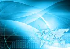 Tecnologia-stile del programma di mondo illustrazione di stock