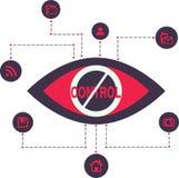 Tecnologia total da fiscalização do espião do controle Imagens de Stock