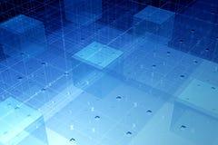 Tecnologia trasparente della fibra Fotografia Stock