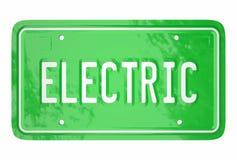 Tecnologia verde automobilistica del piatto elettrico del libretto di circolazione royalty illustrazione gratis