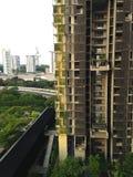 A tecnologia verde baseou o arquiteto de singapore Fotos de Stock