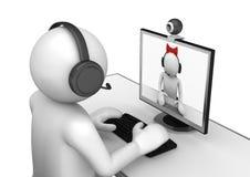 Tecnologia - Videochat Fotos de Stock Royalty Free