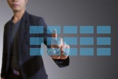 Tecnologia virtual do ecrã táctil Fotografia de Stock