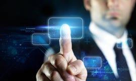 Tecnologia virtual no mercado em linha Fotografia de Stock Royalty Free
