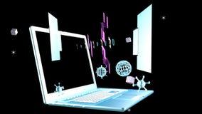 Tecnologias cósmicas das telecomunicações video estoque