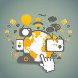 Tecnologias da comunidade da rede Fotografia de Stock