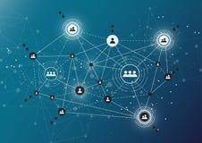 Tecnologias da conexão para o negócio Meios mistos Foto de Stock Royalty Free