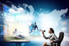 3 tecnologias de d Imagens de Stock Royalty Free