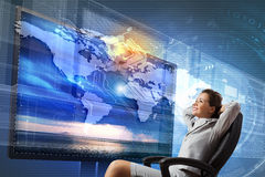 3 tecnologias de d Foto de Stock Royalty Free