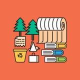 Tecnologias de Eco na cidade ilustração stock