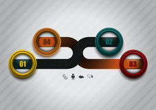 Tecnologias do elemento de Infographics Fotografia de Stock