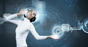 Tecnologias futuras Imagens de Stock