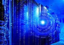 Tecnologias futuristas do servidor do conceito e fundo tecnologico imagem de stock royalty free