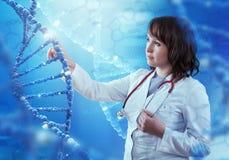 Tecnologias inovativas na ciência e na medicina ilustração 3D Foto de Stock