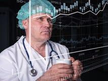 Tecnologias inovativas na ciência e na medicina elementos da ilustração 3D na colagem Fotos de Stock Royalty Free