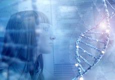 Tecnologias inovativas na medicina elementos da ilustração 3D na colagem Foto de Stock