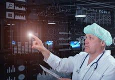 Tecnologias inovativas na medicina elementos da ilustração 3D na colagem Fotos de Stock Royalty Free