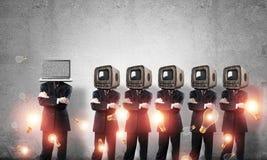 Tecnologias modernas contra a velha Imagens de Stock