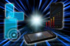 Tecnologias modernas do telefone Foto de Stock Royalty Free
