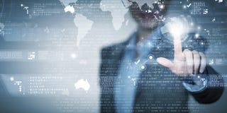 Tecnologias modernas no negócio Fotos de Stock